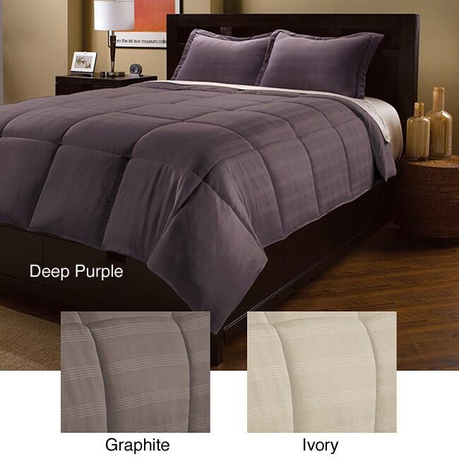 Luxe Plaid Down Alternative 3-piece Comforter Set