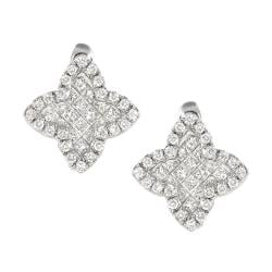 14k White Gold 1 1/3ct TDW White Diamond Earrings (G, SI1)
