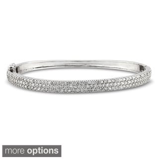 Miadora 18k Gold Over Sterling Silver 5ct TGW Cubic Zirconia Bangle