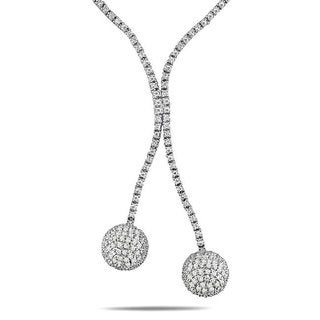 Miadora Sterling Silver Cubic Zirconia Ball Necklace (8ct TGW)