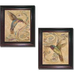 Patricia Pinto 'Hummingbird I and II' Framed 2-piece Canvas Art Set