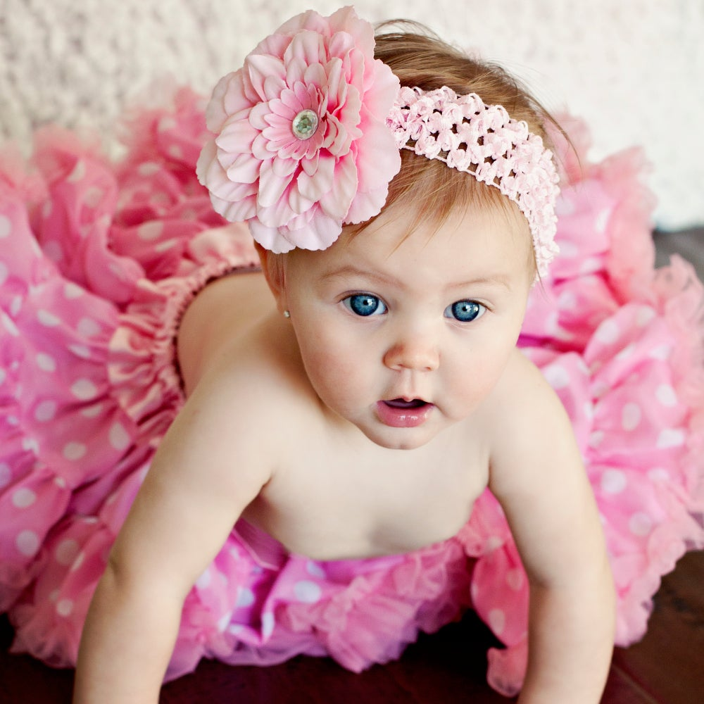 Extra Fluffy Pink and White Polka Dot Tutu Set