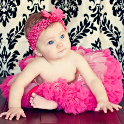 Extra Fluffy Pink and Hot Pink Tutu/ Headband/ Bow 3-piece Set