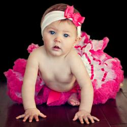 Extra Fluffy White and Hot Pink Tutu/ Headband/ Bow 3-piece Set