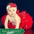 Extra Fluffy Red and White Polka Dots Tutu/ Headband/ Bow 3-piece Set
