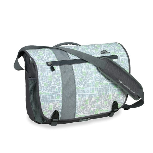 High Sierra City Map Rufus 17-inch Laptop Messenger Bag