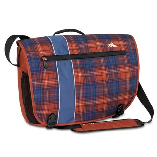 High Sierra Rufus Messenger Flannel Plaid Laptop Messenger Bag