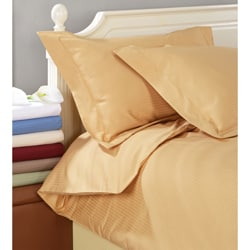 1000 Thread Count Egyptian Cotton 3-piece Stripe Duvet Cover Set