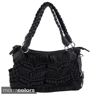Journee Collection Women's Knotted Detail Double Handle Hobo Bag
