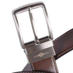 Joseph Abboud Men's Reversible Topstitched Leather Belt