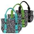Journee Collection Women's Double Handle Zebra Print Tote