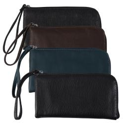 Adi Designs Women's Zippered Textured Wristlet Wallet