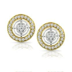 Auriya 14k Two-tone Gold 1/5ct TDW Diamond Earrings (H-I, I1-I2)