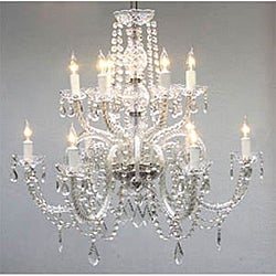 Venetian-style All-crystal 12-light Chandelier