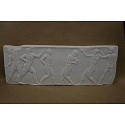 White Bonded Marble Greek Marathon Frieze
