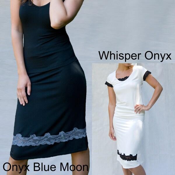 Julianna Rae Women's Lace Inset Satori Skirt with Elastic Waist