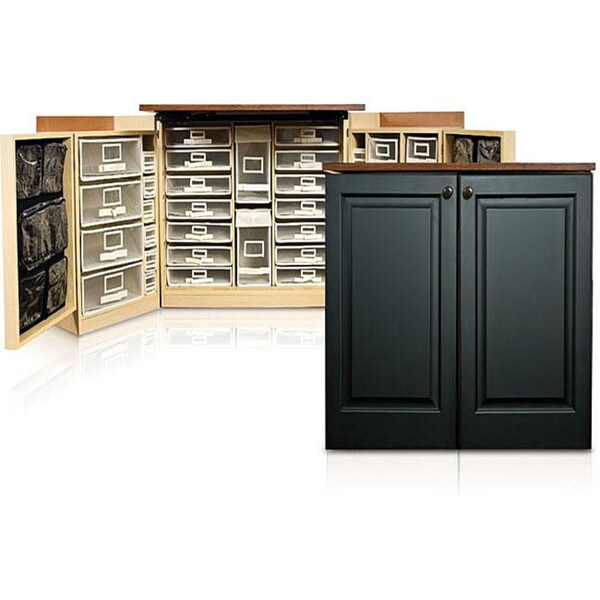 MiniBox Black Raised Panel Craft & Office Storage