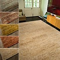 Hand-woven Hemp and Chenille Rug (5' x 8')