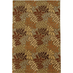 Hand-knotted Holiday Brown Wool Rug (3' 6' x 5' 6')