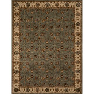 Dorchester Steel/ Beige Powerloomed Rug (5' 2 x 7' 7)