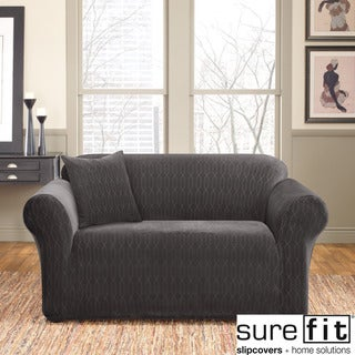 Sure Fit Stretch Velvet Links Loveseat Slipcover