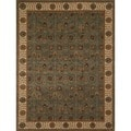 "Dorchester Steel/ Beige Powerloomed Rug (9' 8"" x 12' 8"")"