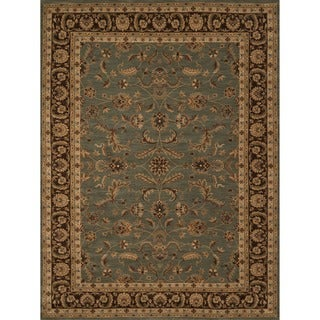 Powerloomed Dorchester Blue/Brown Rug (3'9' x 5'6')