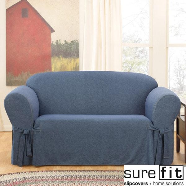 Sure Fit Denim Sofa Slipcover 13993286 Overstock Com