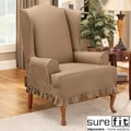 Sure Fit Colette Wing Chair Slipcover in Cocoa