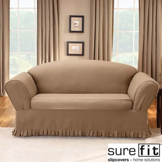 Sure Fit Colette Loveseat Slipcover in Cocoa