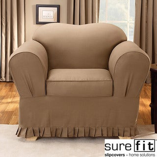 Sure Fit Colette Cocoa Chair Slipcover