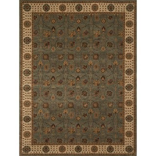 Powerloomed Dorchester Steel/Beige Rug (3'9' x 5'6')
