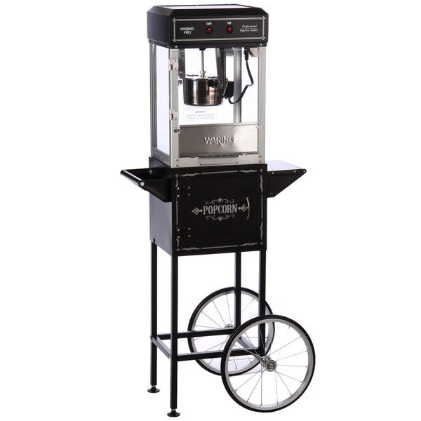 Popcorn Maker with Trolley Black