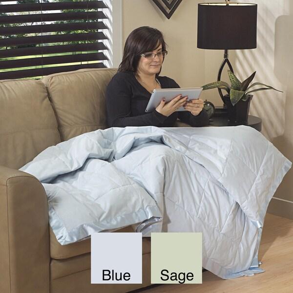 Down Alternative Oversized Satin Trim Twin Blanket