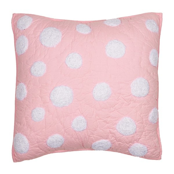 Cottage Home Light Pink Dot Decorative Pillow - 13993366 - Overstock.com Shopping - Great Deals ...