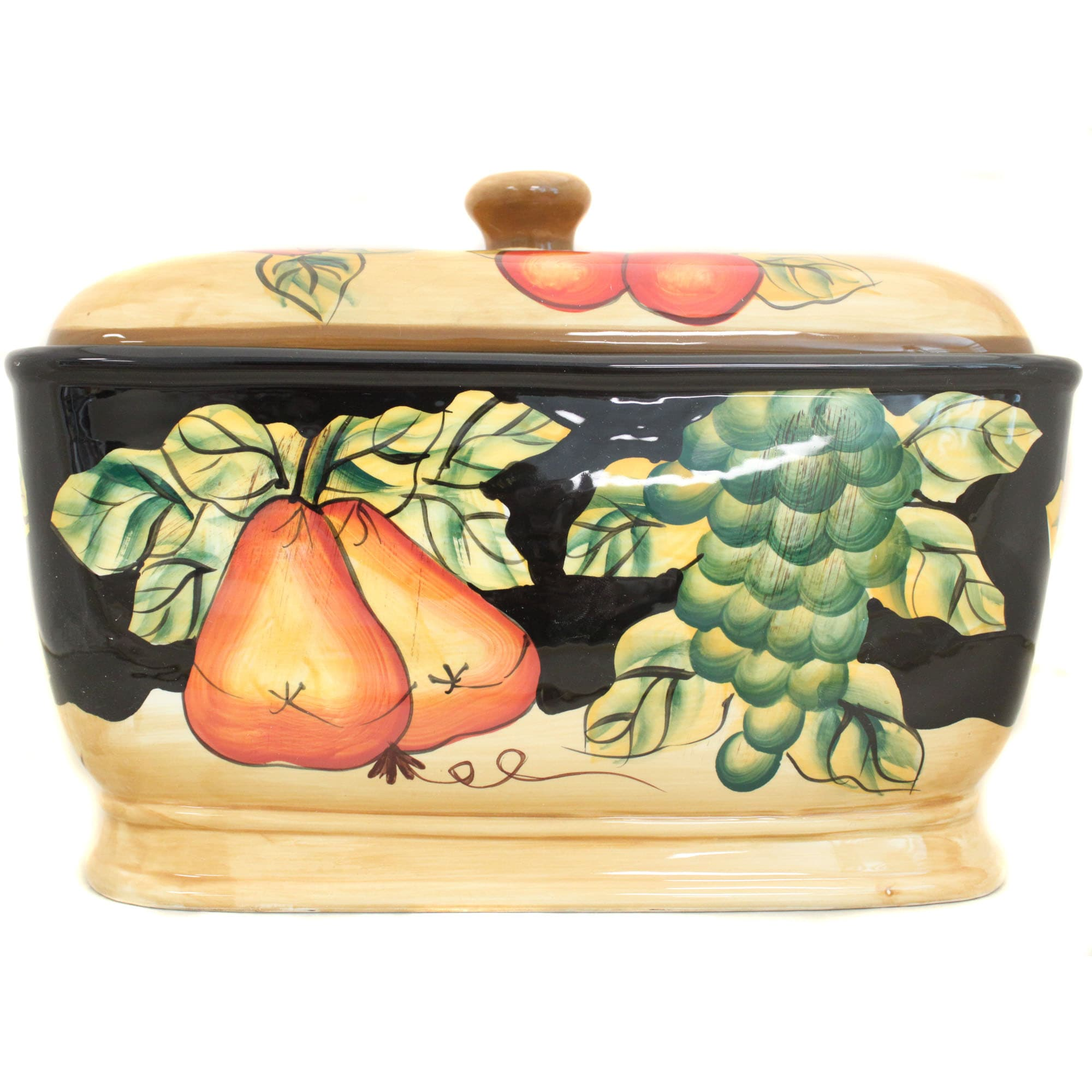 Casa Cortes Barcelona Collection Hand-Painted Bread Box