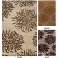 Hand-tufted Contemporary Black/Brown Mountain New Zealand Wool Abstract Rug (2' x 3')