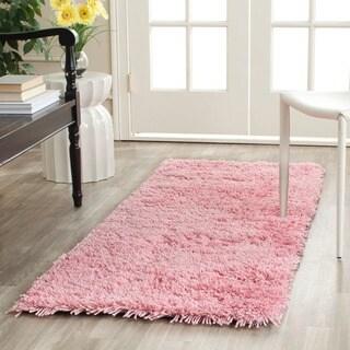 Safavieh Classic Ultra Handmade Pink Shag Runner (2'3 x 6')