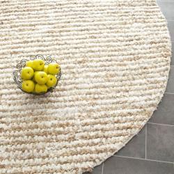 Safavieh Hand-woven Metro Ivory Shag Rug (7' Round)