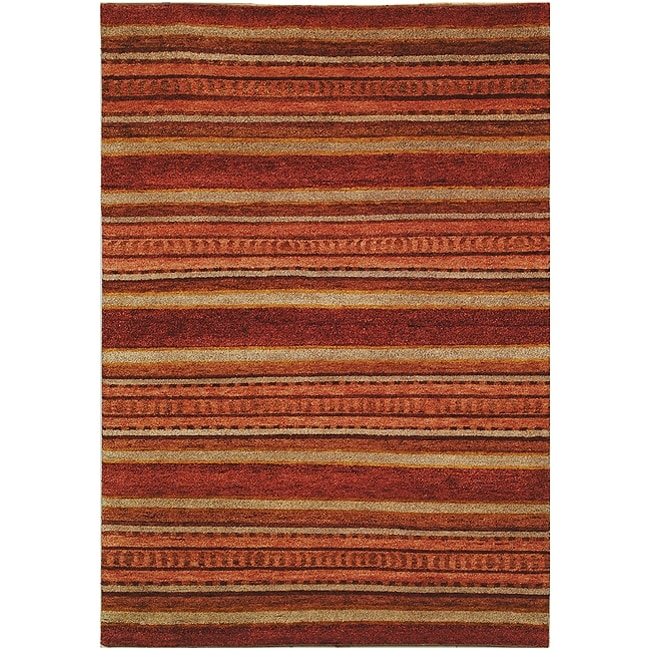 Safavieh Hand-knotted Selaro Stripes Wool Rug (7'9 x 9'9)
