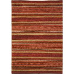 Hand-knotted Selaro Stripes Wool Rug (7'9 x 9'9)