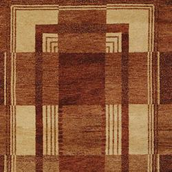 Hand-knotted Selaro Grids Brown/ Beige Wool Rug (6' x 9')