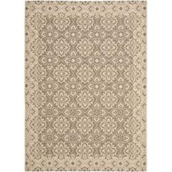 Brown/ Cream Indoor Outdoor Rug (8' x 11'2)