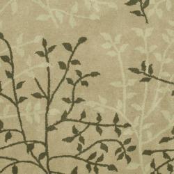 Safavieh Handmade Soho Moments Green New Zealand Wool Rug (6' Square)