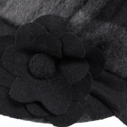 Journee Collection Women's Flower Accent Plaid Newsboy Cap