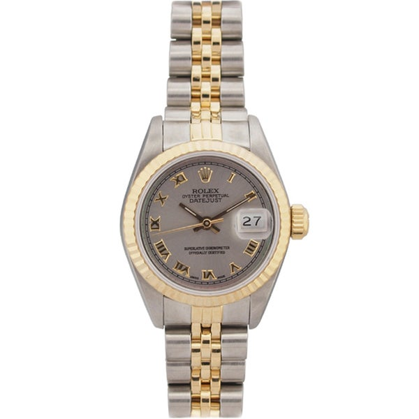 pre owned rolex s datejust two tone grey