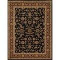 Dorchester Black/ Rust Powerloomed Rug (12' x 15')