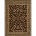 "Dorchester Brown/ Blue Powerloomed Rug (9'8"" x 12'8"")"