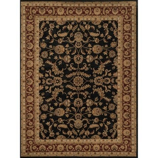 Powerloomed Dorchester Black/Rust Rug (3'9' x 5'6')