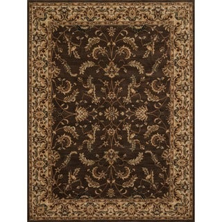 Powerloomed Dorchester Chocolate/Beige Rug (3'9' x 5'6')